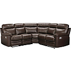 more details on HOME New Paolo Leather Recliner Right Hand Corner Sofa -Choc