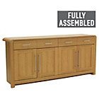 more details on Heart of House Elford 4 Door 2 Dwr Sideboard - Oak Effect.