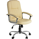 more details on Taylor Gas Lift Leather Effect Office Chair - Cream.