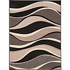more details on Wave Rug 160 x 120cm - Black.
