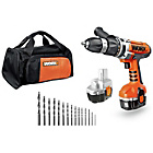 Worx 18V Hammer Drill with 2 Batteries.
