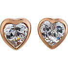 more details on 9ct Rose Gold Plated Silver Crystal Heart Stud Earrings.