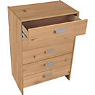 more details on New Capella 5 Drawer Chest - Pine Effect.
