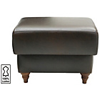 more details on Heart of House Argyll Leather Footstool - Chocolate.