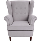 more details on Martha Fabric Wingback Chair - Grey.