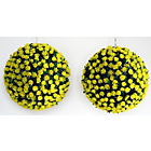more details on Artificial Yellow Rose Topiary Grass Balls - Pack of 2.