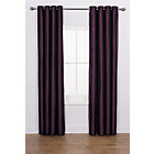 more details on Ava Faux Silk Curtains - 168 x 183cm - Plum.