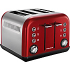 more details on Morphy Richards 242004 4 Slice Accents Toaster - Red.