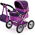 more details on Bayer Trendy Doll's Pram - Plum and Purple.