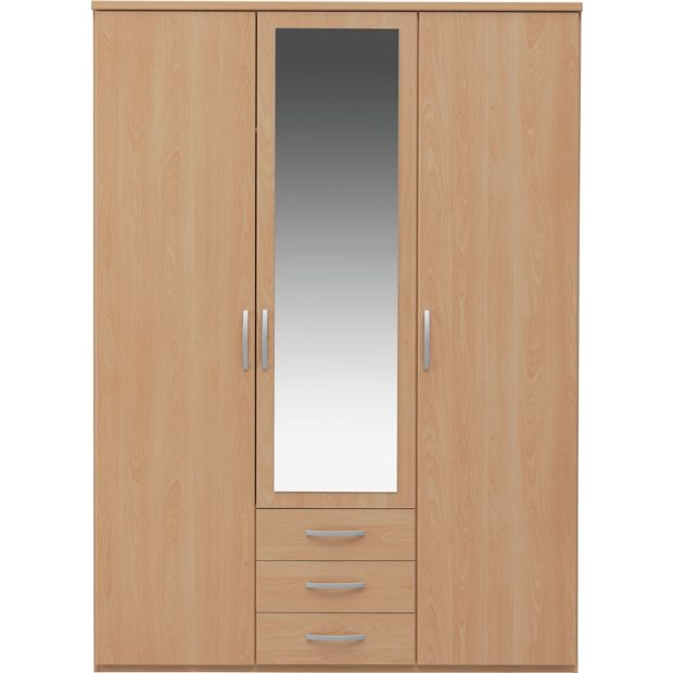 Buy Collection New Hallingford 3 Dr 3 Drw Mirror Wardrobe