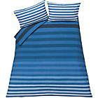 more details on Juno Stripe Blue Bedding Set - Double.
