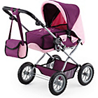 more details on Bayer Combi Grande Doll's Pram - Plum.