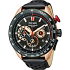 more details on Pulsar Men's Rose Gold WRC Chronograph Strap Watch.