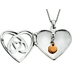 more details on St Davids Gold Sterling Silver & 9ct Rose Gold Charm Locket.