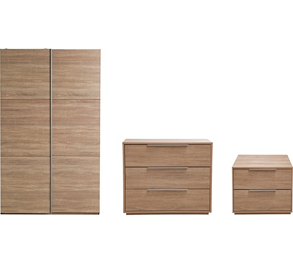 Buy Hygena Bergen 3 Piece Small Wardrobe Package Oak Effect At Your Online Shop