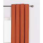 more details on Heart of House Hudson Textured Curtains - 116x137cm - Russet