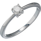 more details on Sterling Silver ¼ Carat Diamond Solitaire Ring.