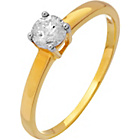 more details on 9ct Gold ⅓ Carat Diamond Solitaire Ring.