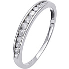 more details on 9ct White Gold 0.25ct Diamond Channel Set Eternity Ring.