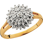 more details on 9ct Gold Diamond Cluster Ring.