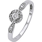 more details on 9ct White Gold Diamond Miracle Plate Solitaire Ring.