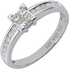 more details on 9ct White Gold 0.33ct Diamond Princess Cut Ring.