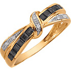 more details on Ladies' 9ct Gold Sapphire and Diamond Crossover Ring.