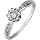 more details on 9ct White Gold Illusion Set 0.10ct tw Diamond Solitaire Ring