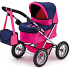 more details on Bayer Trendy Doll's Pram - Pink and Dark Blue.