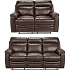 more details on Collection New Paolo Large and Reg Leather Recline Sofa-Choc