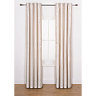 more details on Ava Faux Silk Curtains 168 x 137cm - Cream.