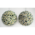more details on Artificial Daisy Topiary Grass Balls - Pack of 2.
