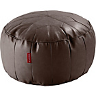 more details on Moroccan Leather Effect Footstool - Chocolate.