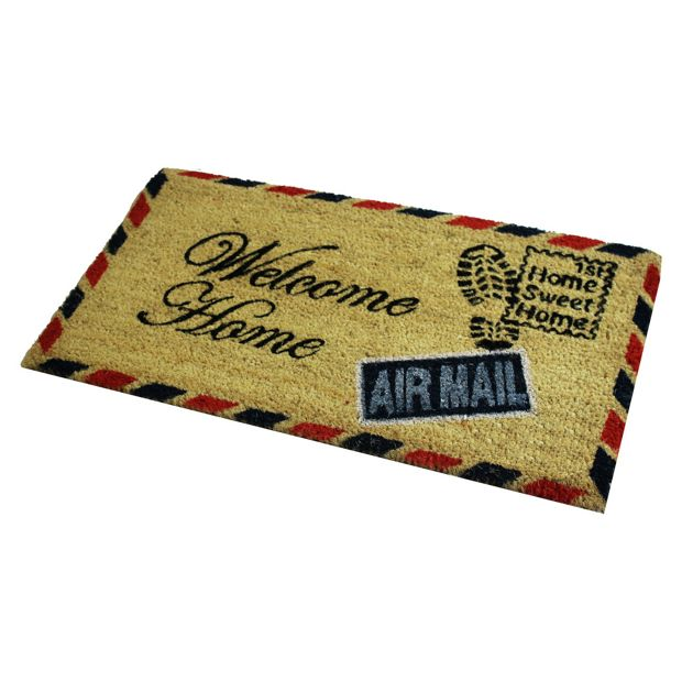 buy jvl postcard pvc backed coir doormat at. Black Bedroom Furniture Sets. Home Design Ideas
