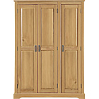 more details on Mendoza 3 Door Wardrobe - Pine with Oak Stain.
