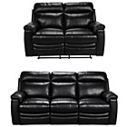 more details on Collection New Paolo Large and Reg Leather Recline Sofa -Blk
