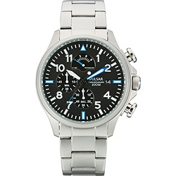 Pulsar Chronograph Stainless Steel Mens Bracelet Watch