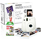 more details on Fujifilm Instax Mini 8 Instant Camera with 10 Shots - White.