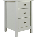 more details on Osaka 3 Drawer Bedside Chest - White.