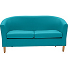more details on ColourMatch Leather Effect Tub Sofa - Lagoon.
