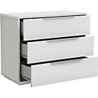 more details on Hygena Bergen 3 Drawer Chest - White.