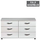 more details on Contempo 3+3 Drawer Chest - White.