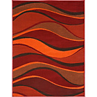 more details on Wave Rug 160 x 120cm - Red.