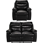 more details on Collection New Paolo Reg Leather Recliner Sofa and Chair-Blk