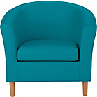 more details on ColourMatch Leather Effect Tub Chair - Lagoon.