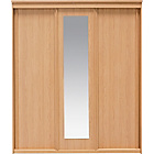 more details on New Hallingford 3 Door Sliding Wardrobe - Beech Effect.