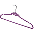 more details on 12 Piece Velvet Coat Hanger Set - Violet.