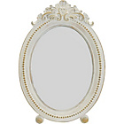 more details on Heart of House Lily Small Ornate Oval Mirror- Antique White.