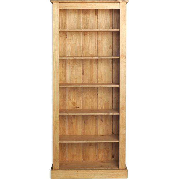 Buy collection tall wide extra deep bookcase solid pine for Read your bookcase buy