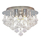 more details on HOME Eve 3 Light Ceiling Fitting - Clear.